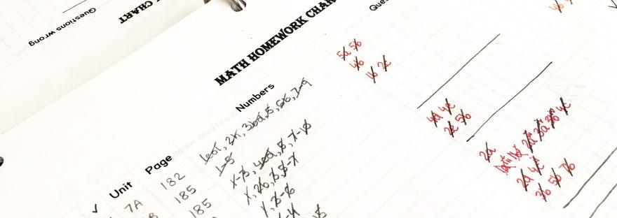 organization || Math Homework Tracker Printable