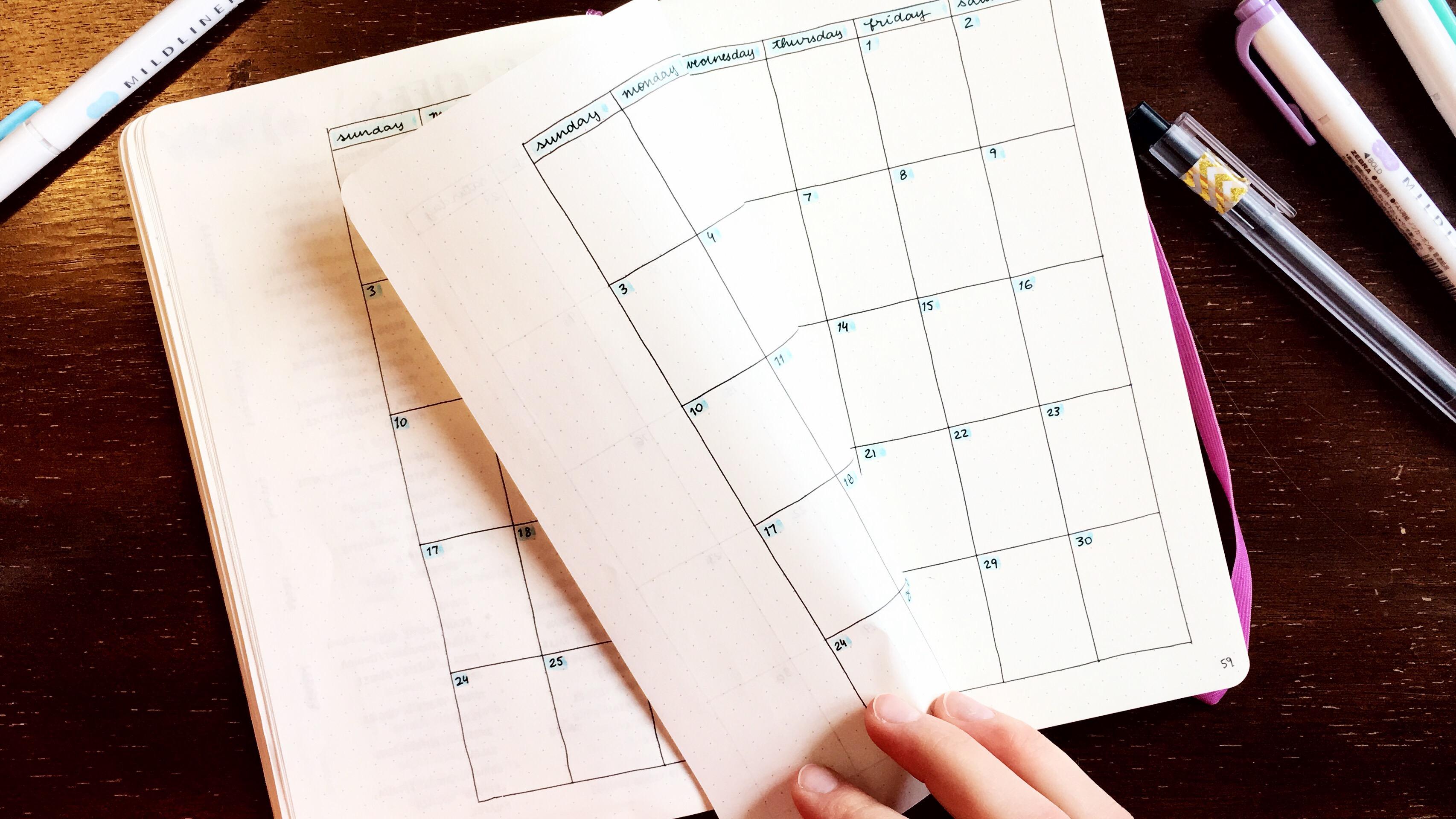 Bullet Journal September Set-up