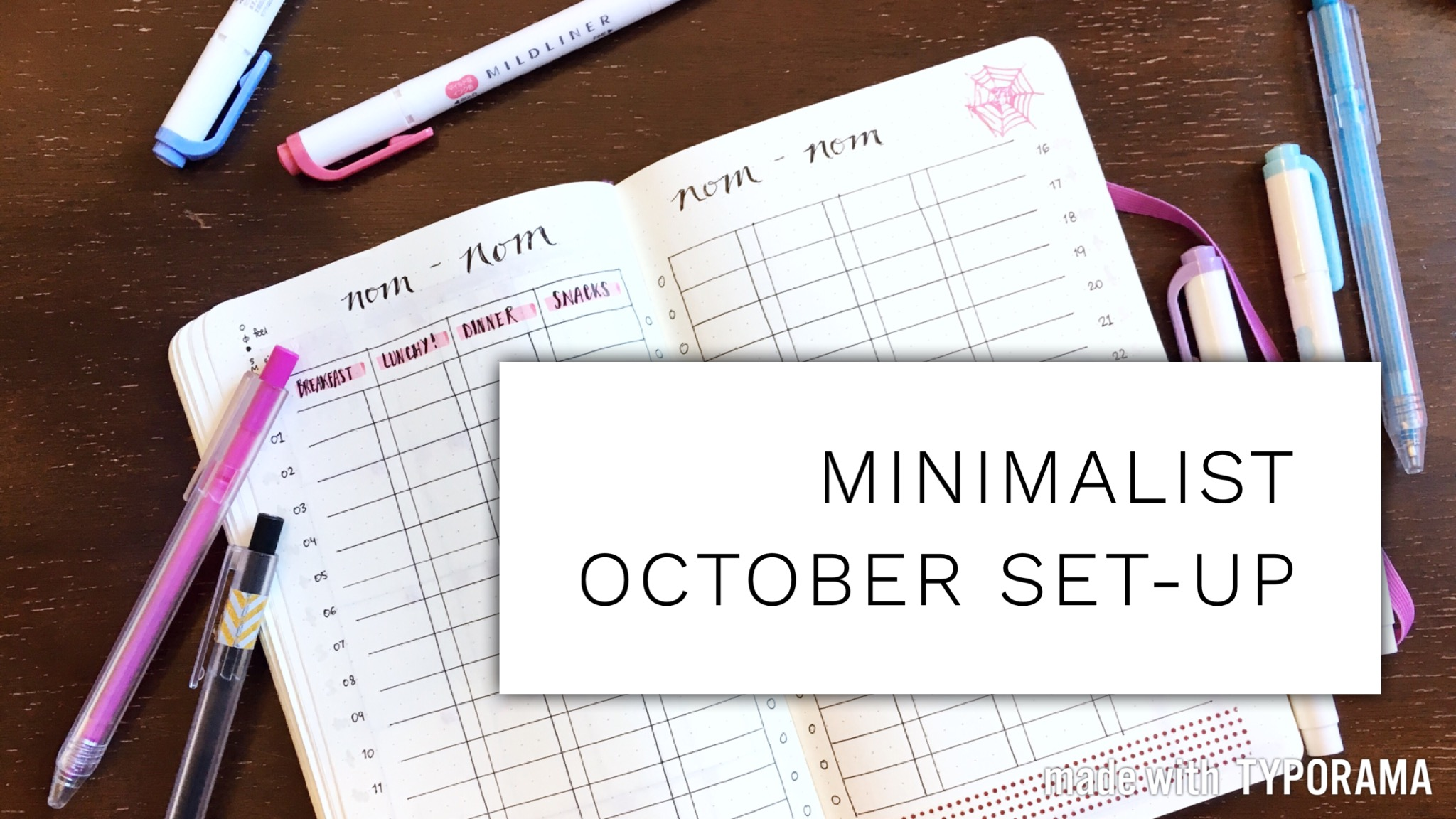 MINIMALIST plan with me: October BUJO set-up