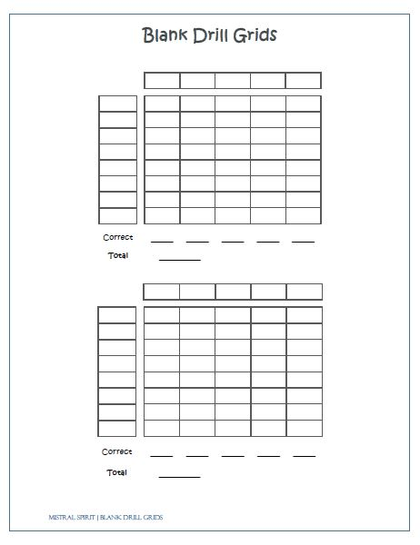 blank drill grids x2