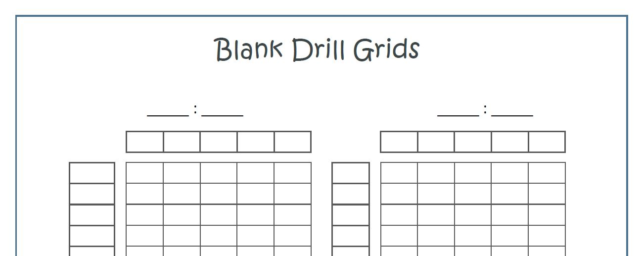 organization || Printable Math Drills