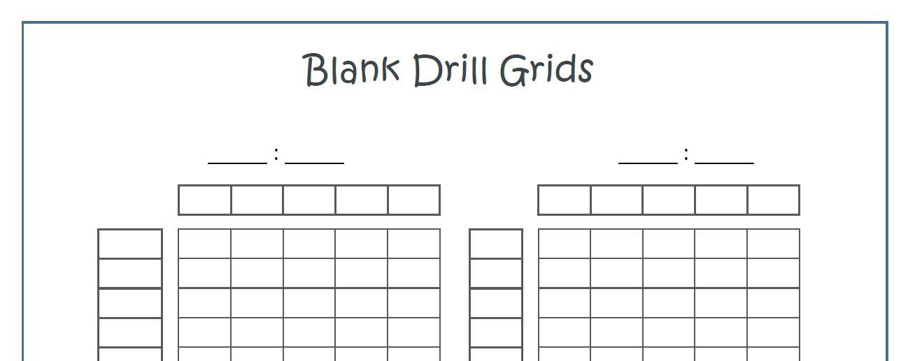 organization || Printable Math Drills