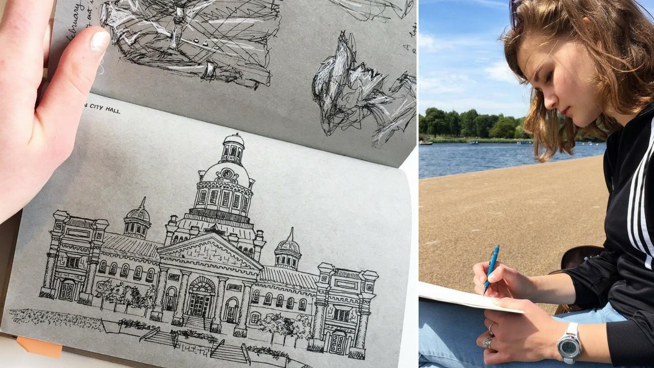 art || TRAVEL sketchbook flip-through