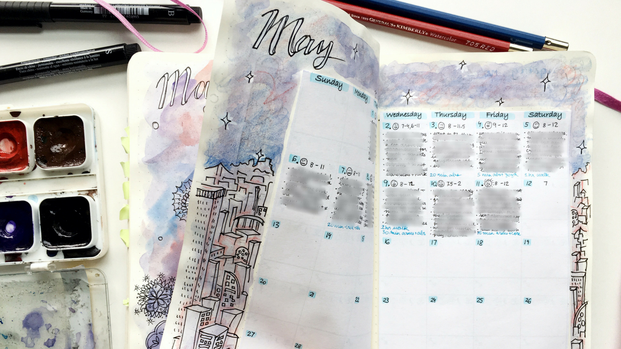organization || may set-up: unedited REAL-TIME bujo paint with me