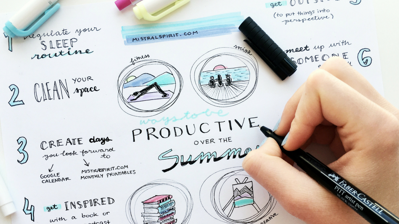 lifestyle || how to be productive over the summer + free printable