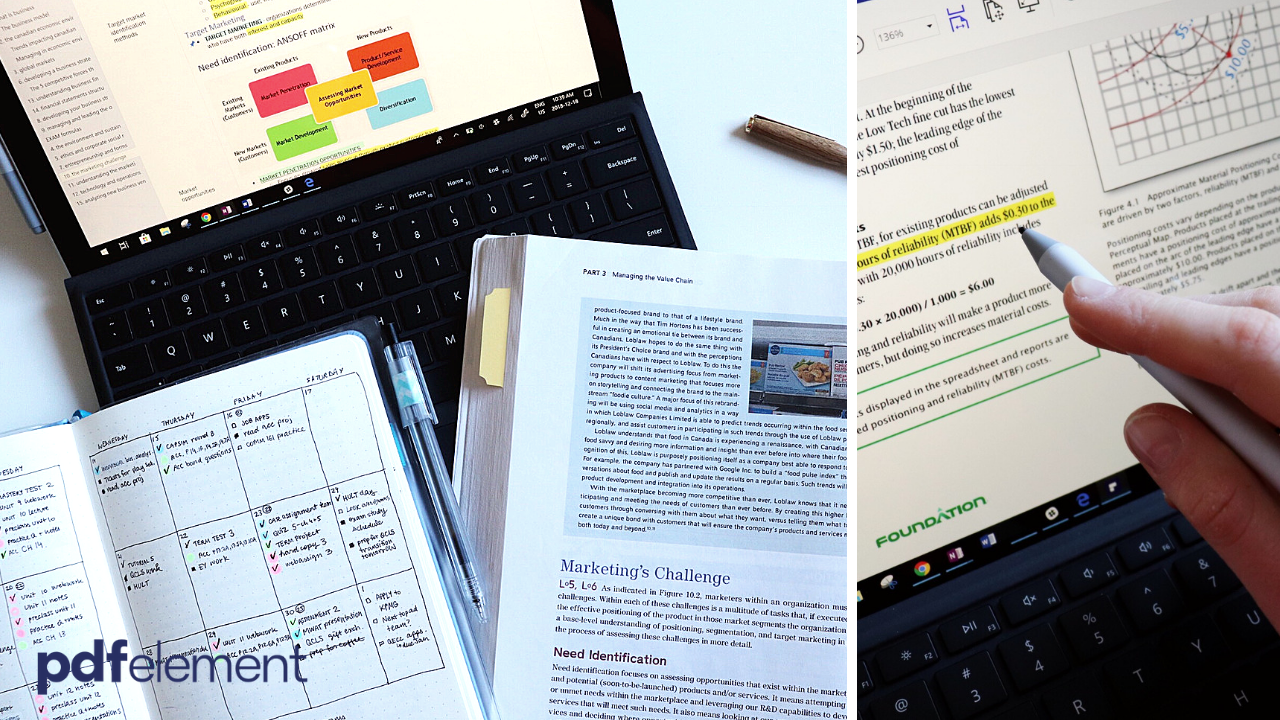 organization || how i take typed textbook notes at university #ad