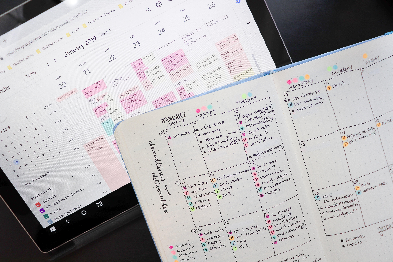 organization || how i use Google Calendar | calendar blocking for focus & efficiency