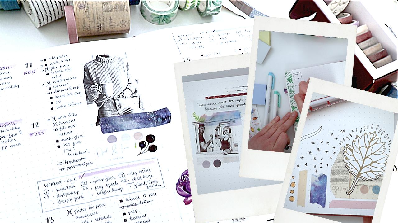 video || 3 time-saving ways to embellish with washi tape | bullet journal tips